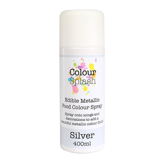 Colour Splash Edible Food Colour Spray Metallic Silver 400ml