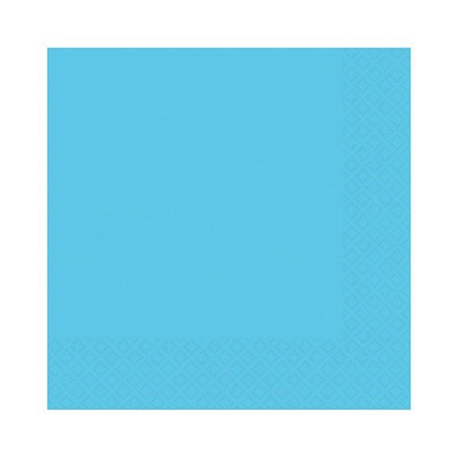 Caribbean Blue Party Napkins - single