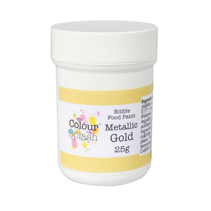 Colour Splash Edible Paint - Metallic Gold
