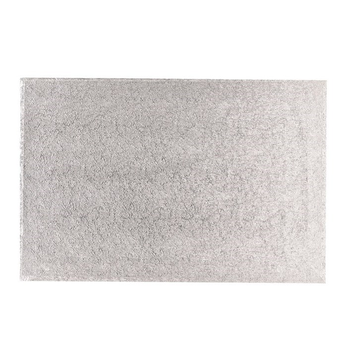 16'' X 14'' (406 X 355mm) Hardboard Rectangle Turn Edge Cards Silver Fern (3mm Thick) - Single