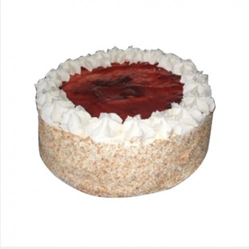 8 Inch Round Vanilla & Strawberry Cake