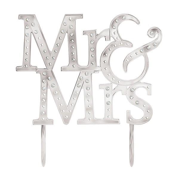 Mr & Mrs Cake Topper - 127 X 134mm - Single