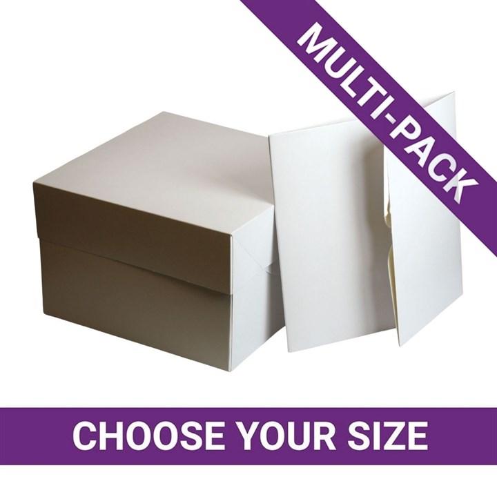 White Cake Box & Lid - Multipack