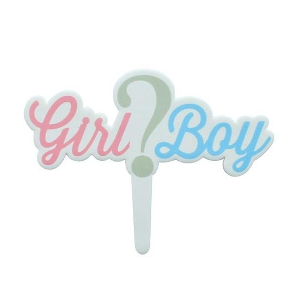 Girl Or Boy Gumpaste Pic - 135 X 100mm (Inc Pic)