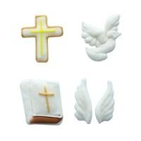 Communion Sugar Decorations - 15 Pieces - Boxed 12 - Single