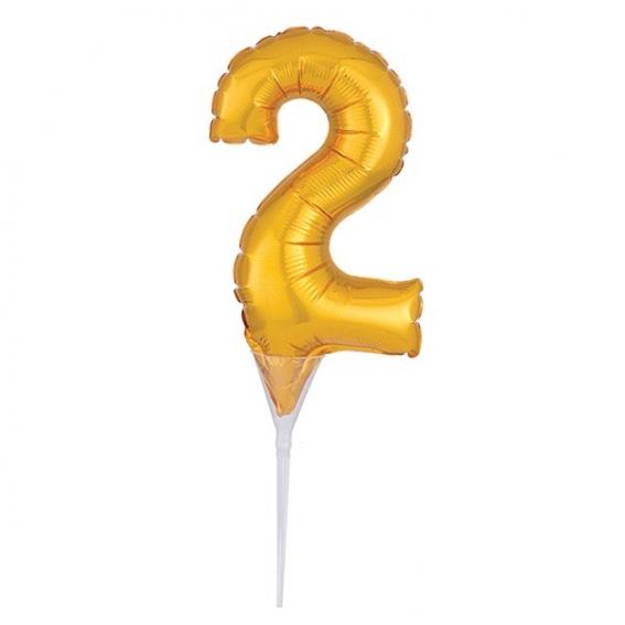 Foil Gold Cake Balloon - 2 -150mm (6'') - single