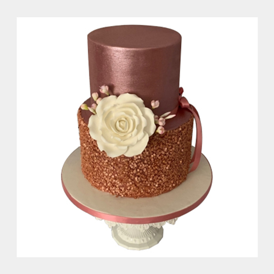 Rose Gold and Rose - 2 Tier