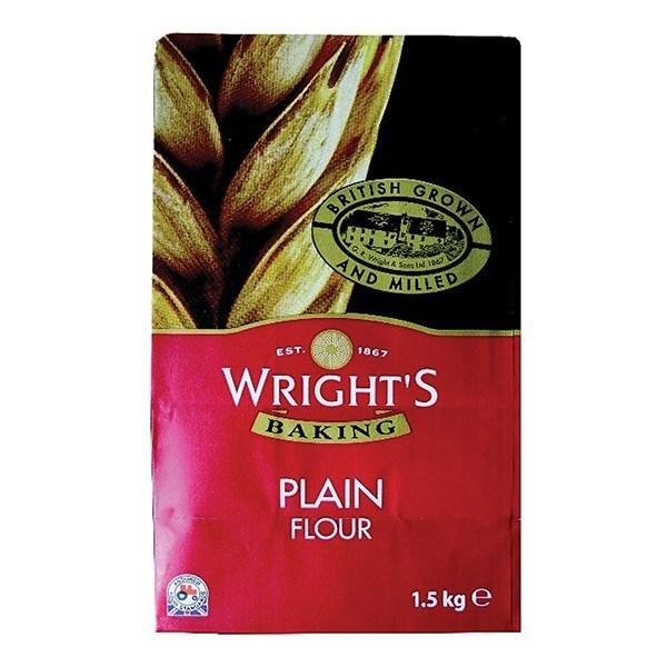 Wrights Plain Flour - 1.5kg - Single