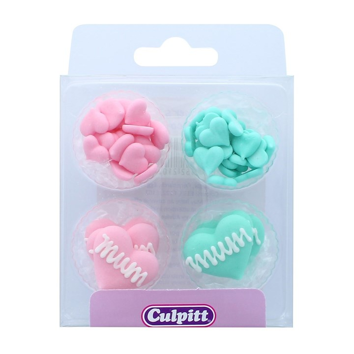 Mother's Day Sugar Decorations - 31 Pieces - Boxed 12 - Single