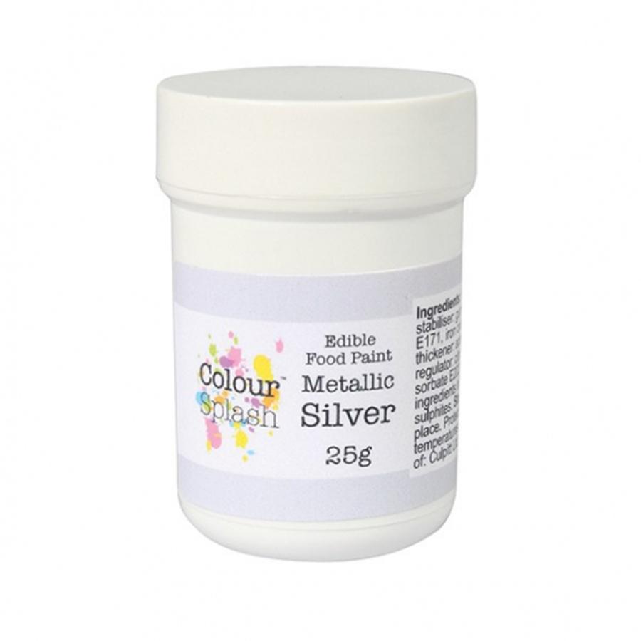 Colour Splash Edible Paint - Metallic Silver