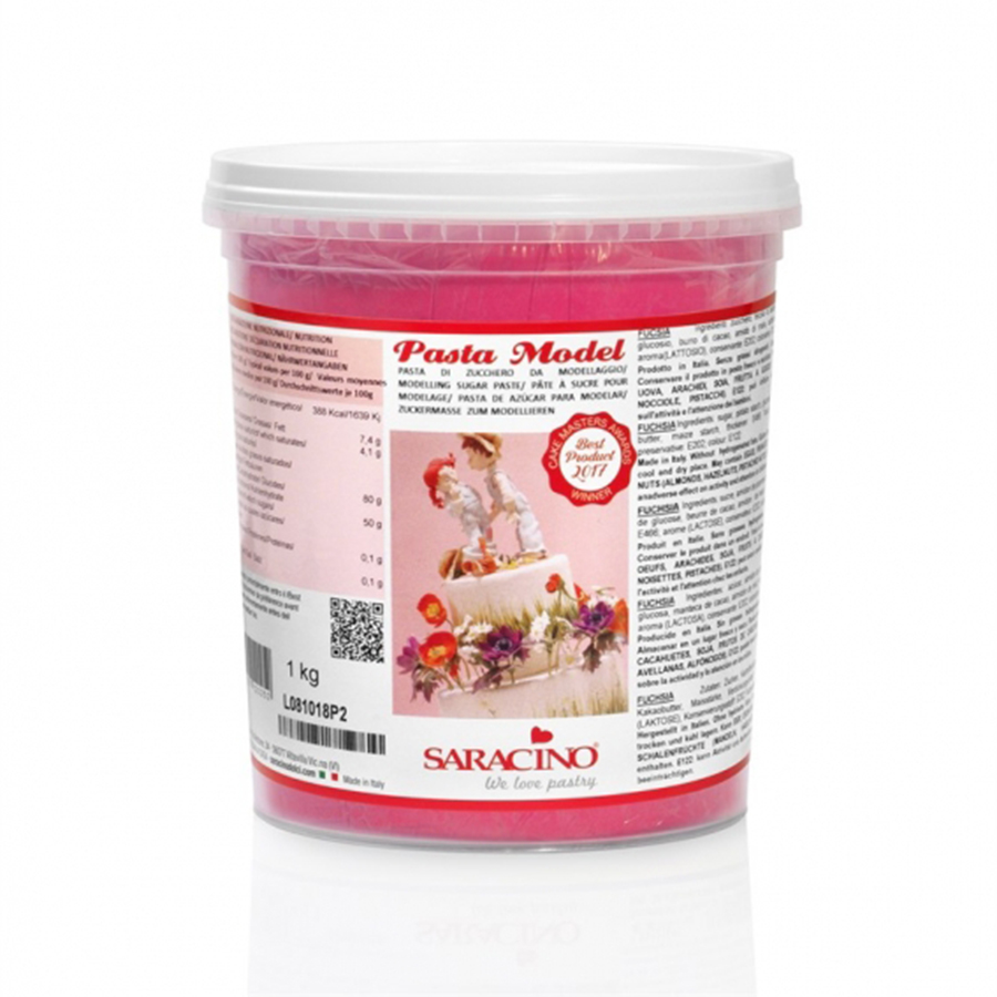 Saracino Modelling Paste - Fuchsia - 1kg - single