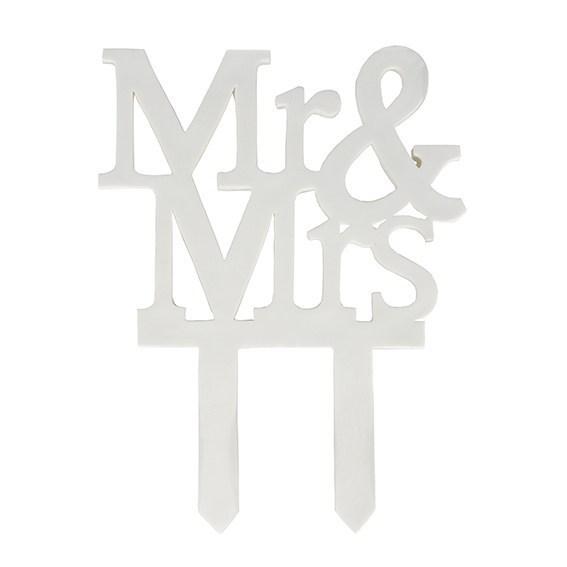 Mr & Mrs Cake Topper 120mm