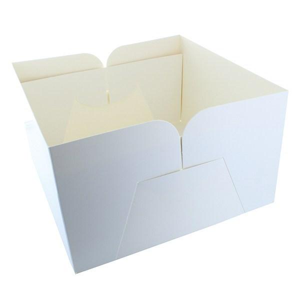 White Cake Box Base - 203x127mm Tall (8'') - Single