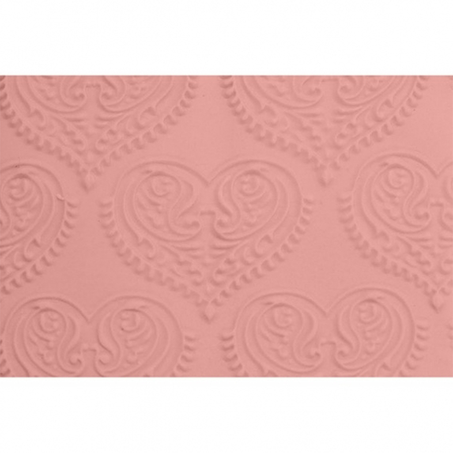 FMM Embossed Rolling Pin - Paisley Heart