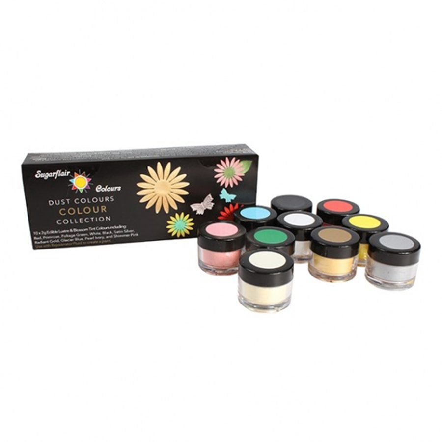 Sugarflair Blossom Tint & Lustre Collection - 10 x 2g