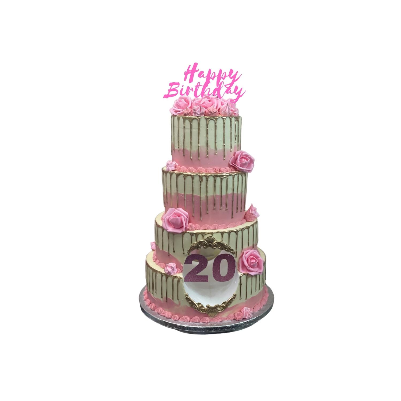 4 Tier Drip Cake