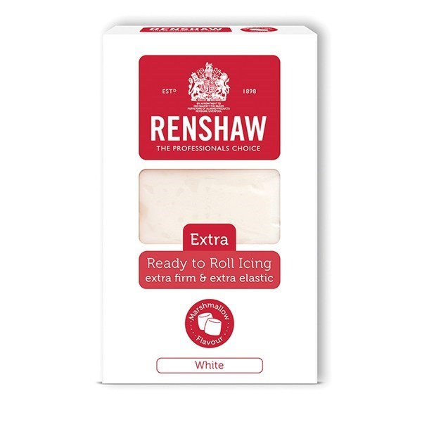 Renshaw Extra Read To Roll Icing - Marshmallow White - 1kg - Single