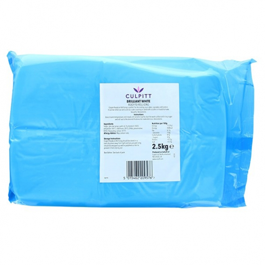 Culpitt Perfect Finish Ready to Roll Icing - Brilliant White 5kg (2 x 2.5kg)