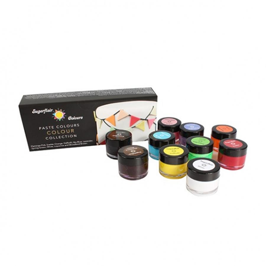 Sugarflair Multi Paste Collection - 10 x 10g