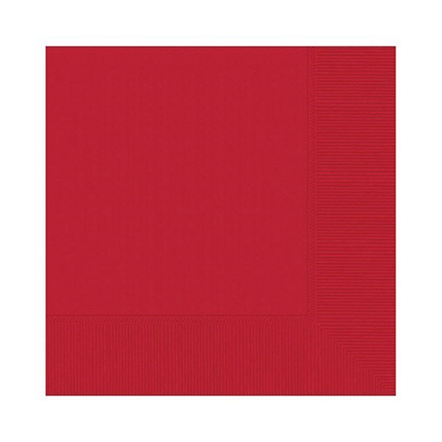 20 Apple Red Party Napkins - single