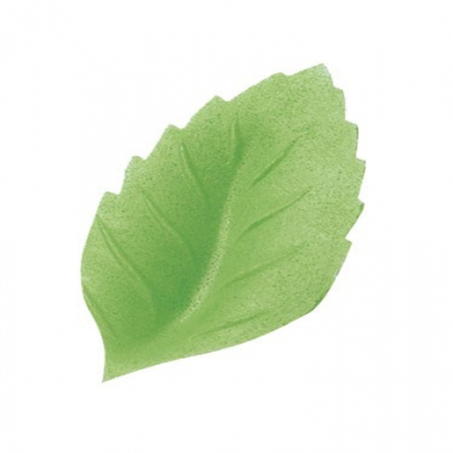 Small Wafer Rose Leaf - 40mm