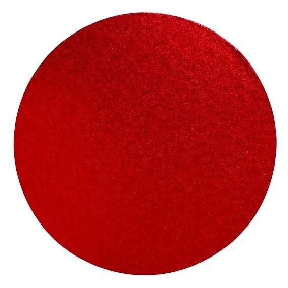 8'' (203mm) Cake Board Round Red - Single
