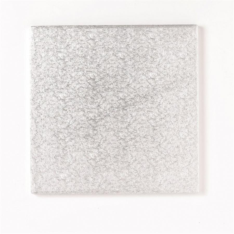 12'' (304mm) Cake Board Square Silver Fern