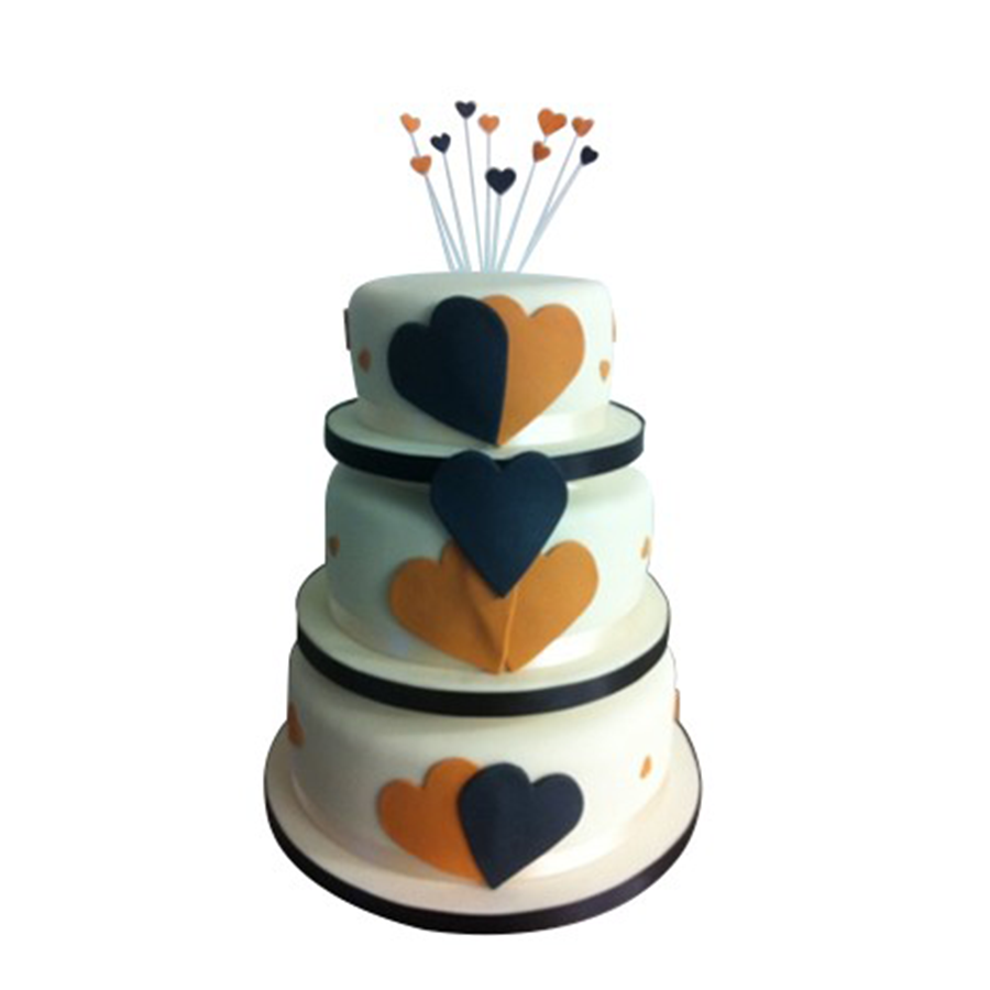 Recession Cake (Two Colour Hearts)