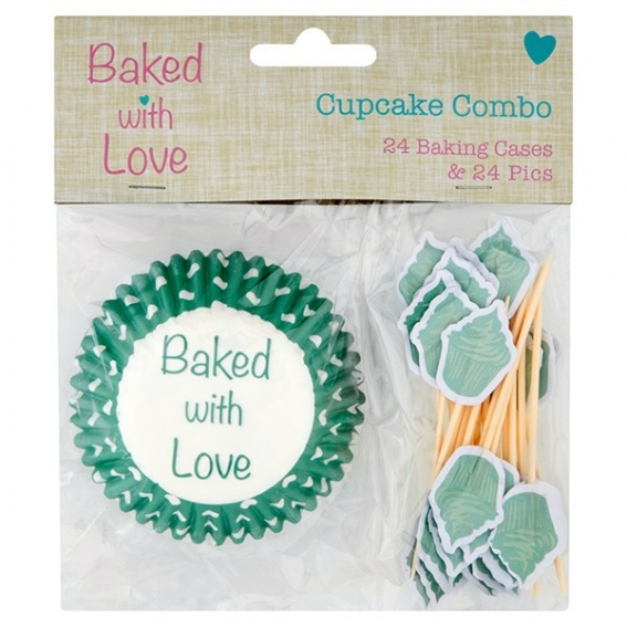 Cupcake Cases and Pics by Baked with Love - single