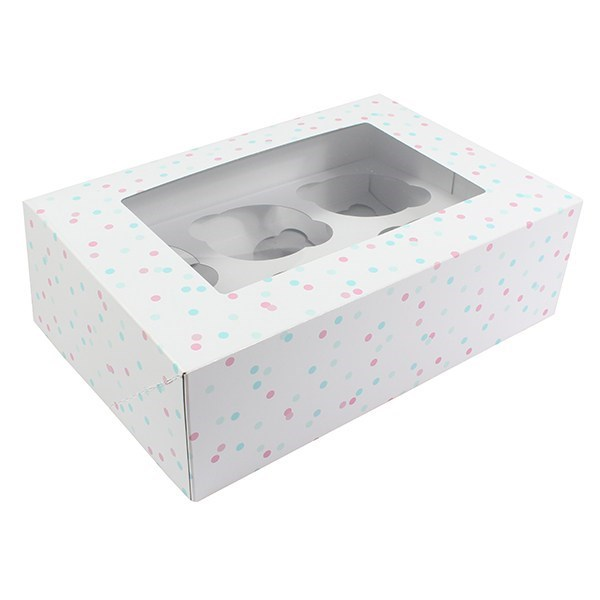 Multi Spot 6 Or 12 Cupcake/Muffin Box - Single