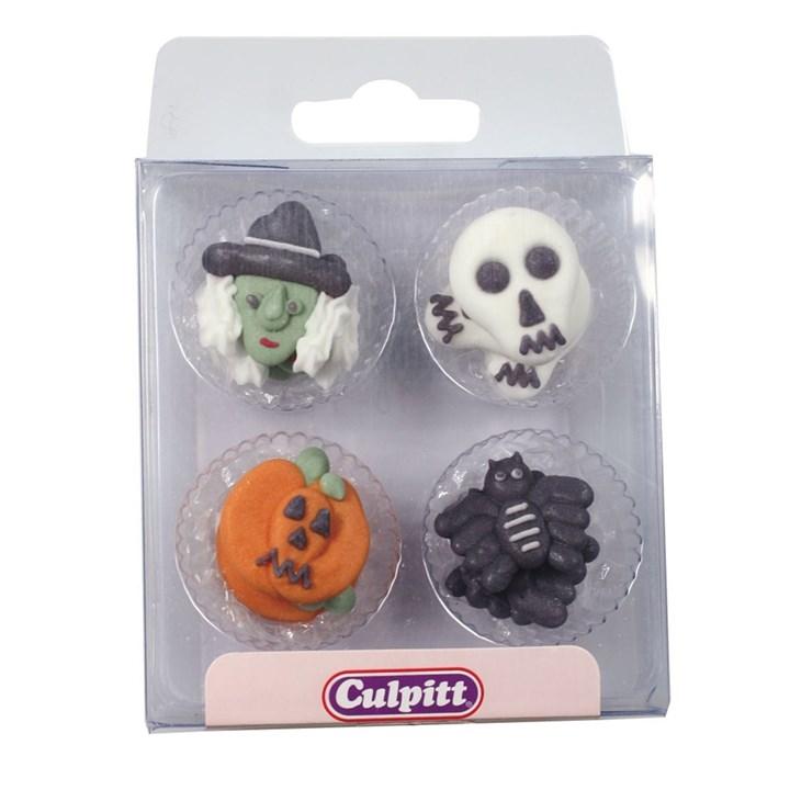 Assorted Halloween Sugar Pipings (Acetate Box)