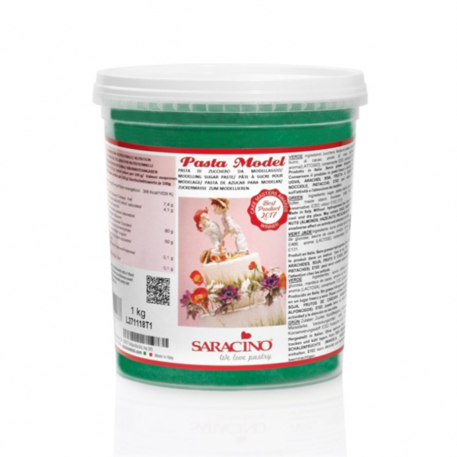 Saracino Modelling Paste - Green - 1kg - single