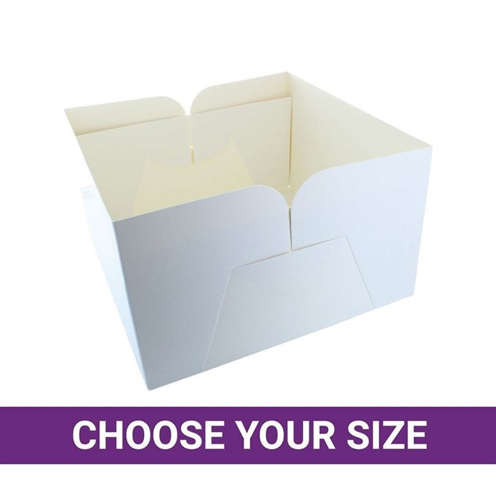 White Cake Box Bases Only - Single