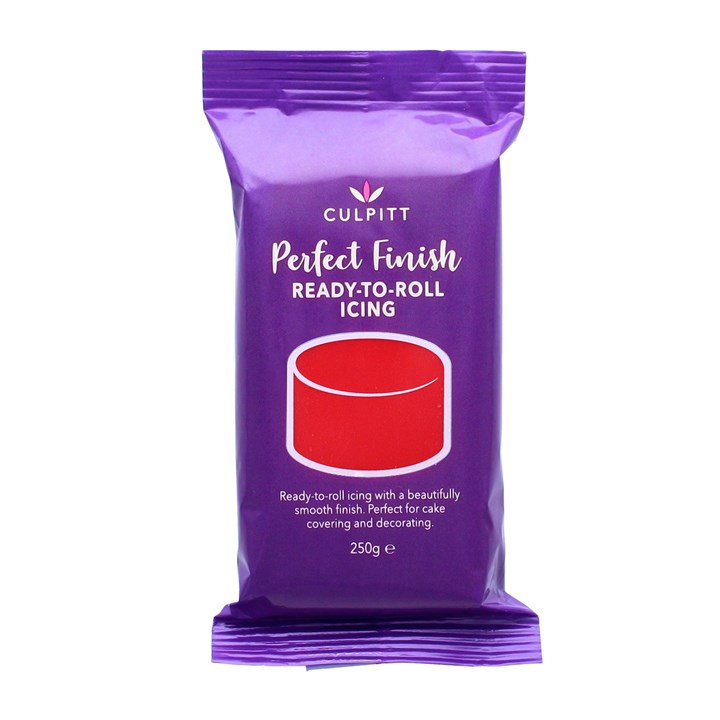Culpitt Perfect Finish Ready To Roll Icing - Red 250g - Single