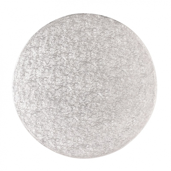 12'' (304mm) Cake Board Round Silver Fern
