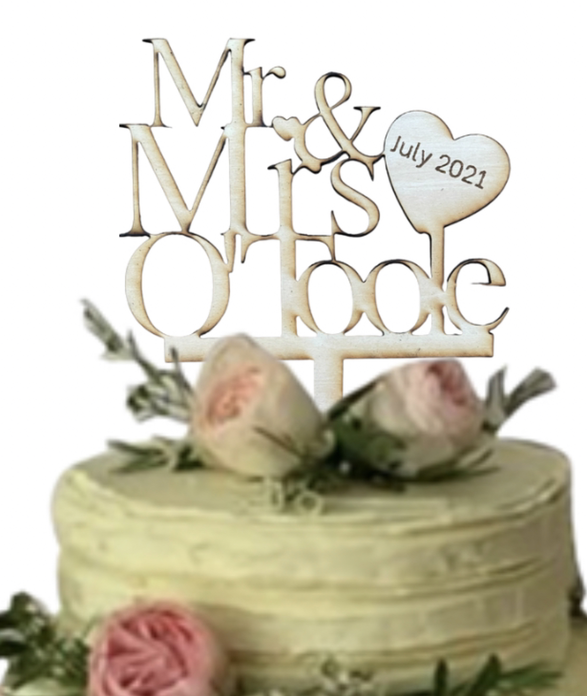 Wooden Personalised Cake Topper