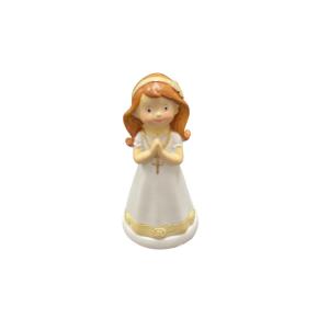 Communion Girl Standing Cake Topper 10cm