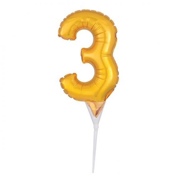 Foil Gold Cake Balloon - 3 -150mm (6'') - single0640516