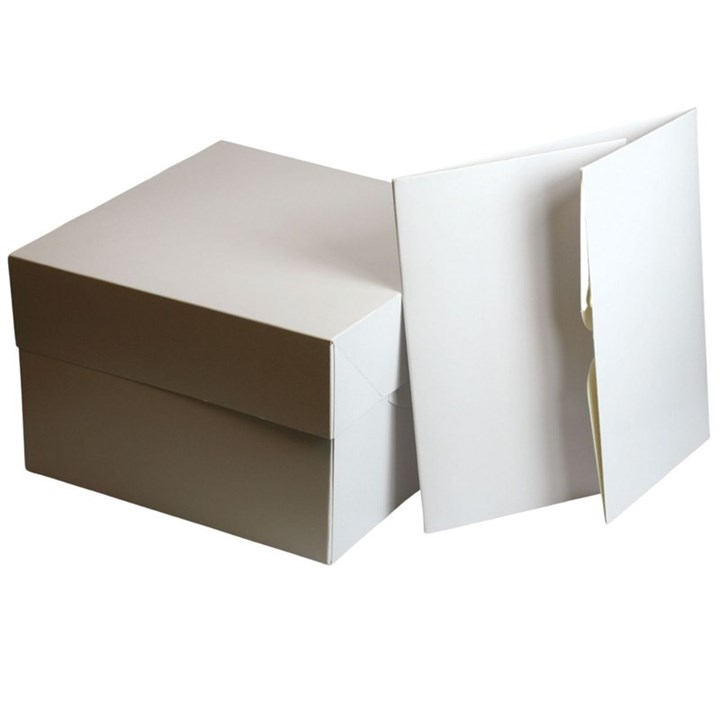 White 7'' Cake Box - Single