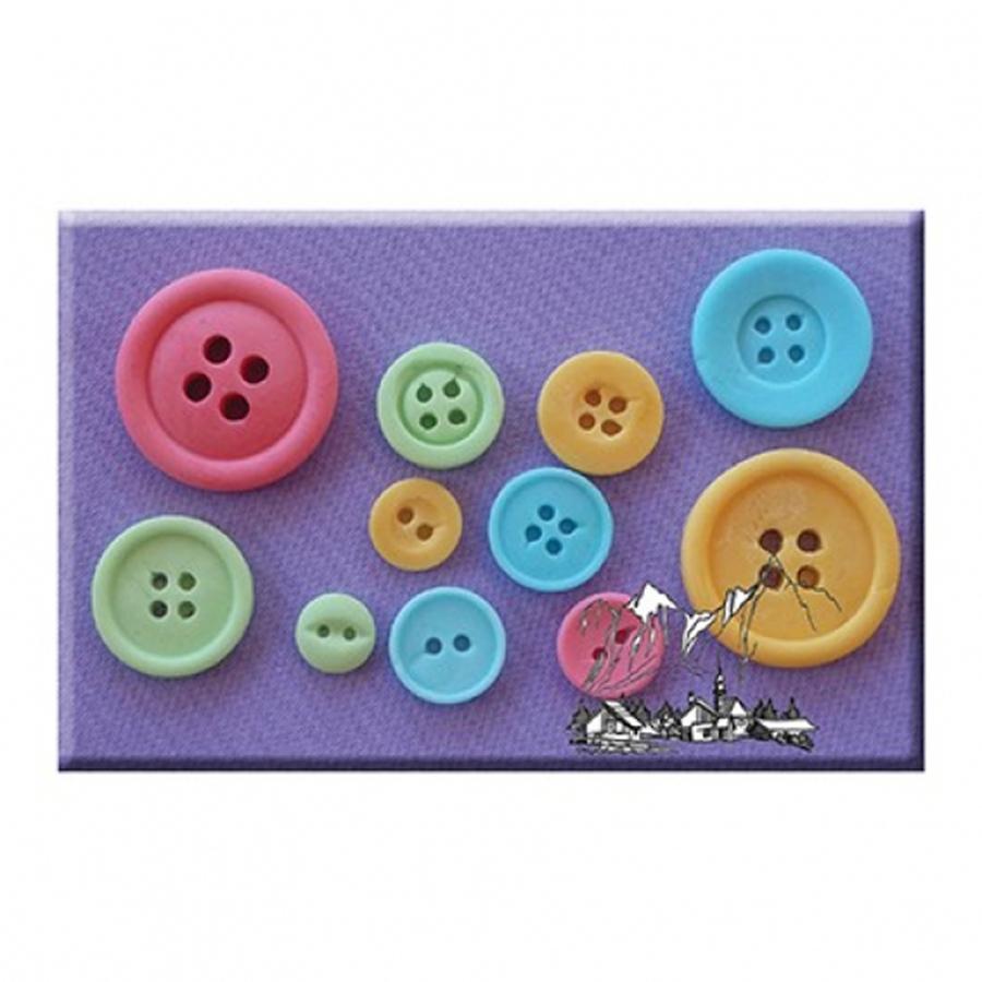 Alphabet Moulds - Buttons Plain