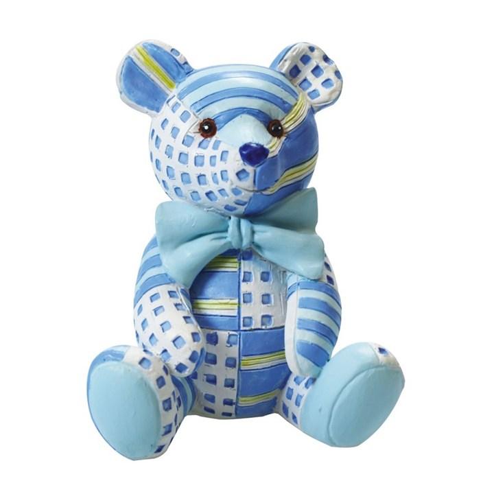 Figurine - Blue Patchwork Ted - Single