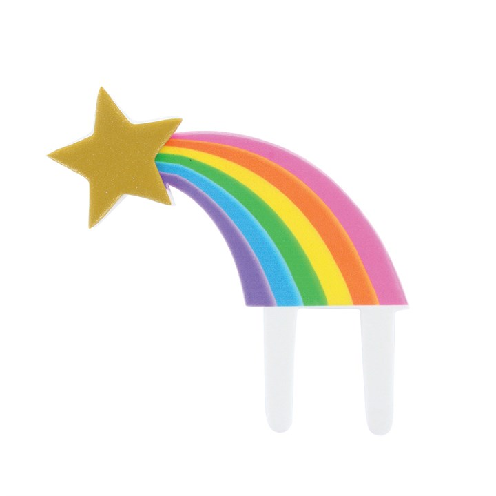 Rainbow Shooting Star Gumpaste Pic - 111 X 120mm