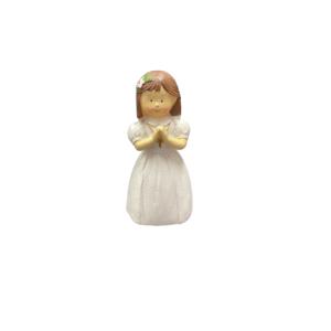 Communion Girl Standing Cake Topper 8.5cm