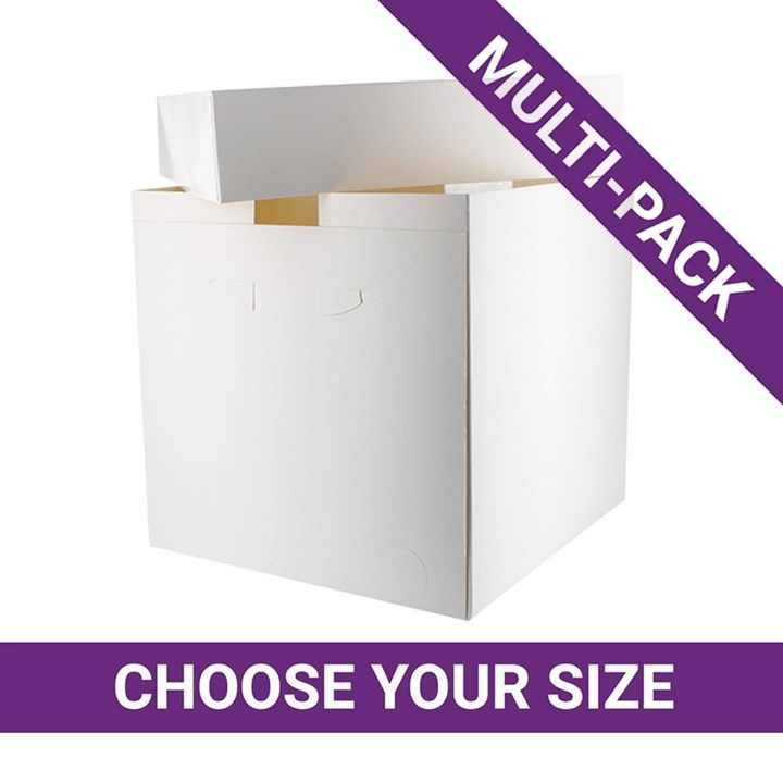 White Tall Cake Boxes - 25 Pack