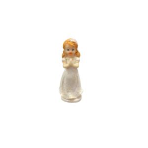 Communion Girl Figure Standing Cake Topper 8cm
