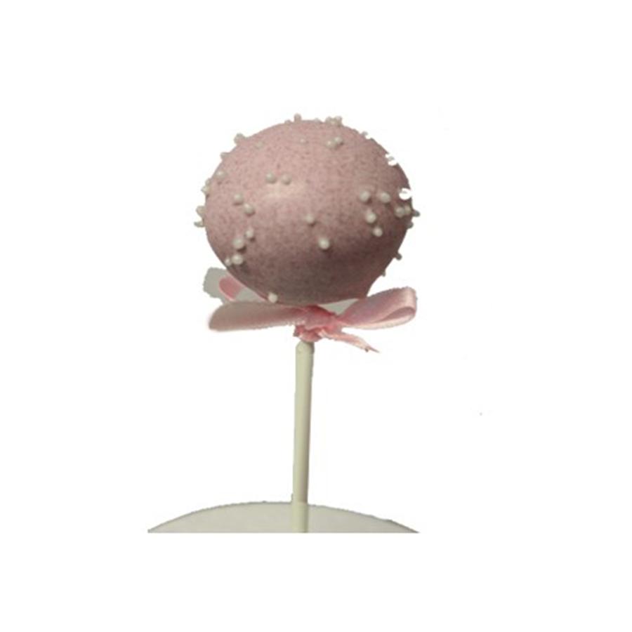 Christening Girl Cake Pop - Pink & Sprinkles