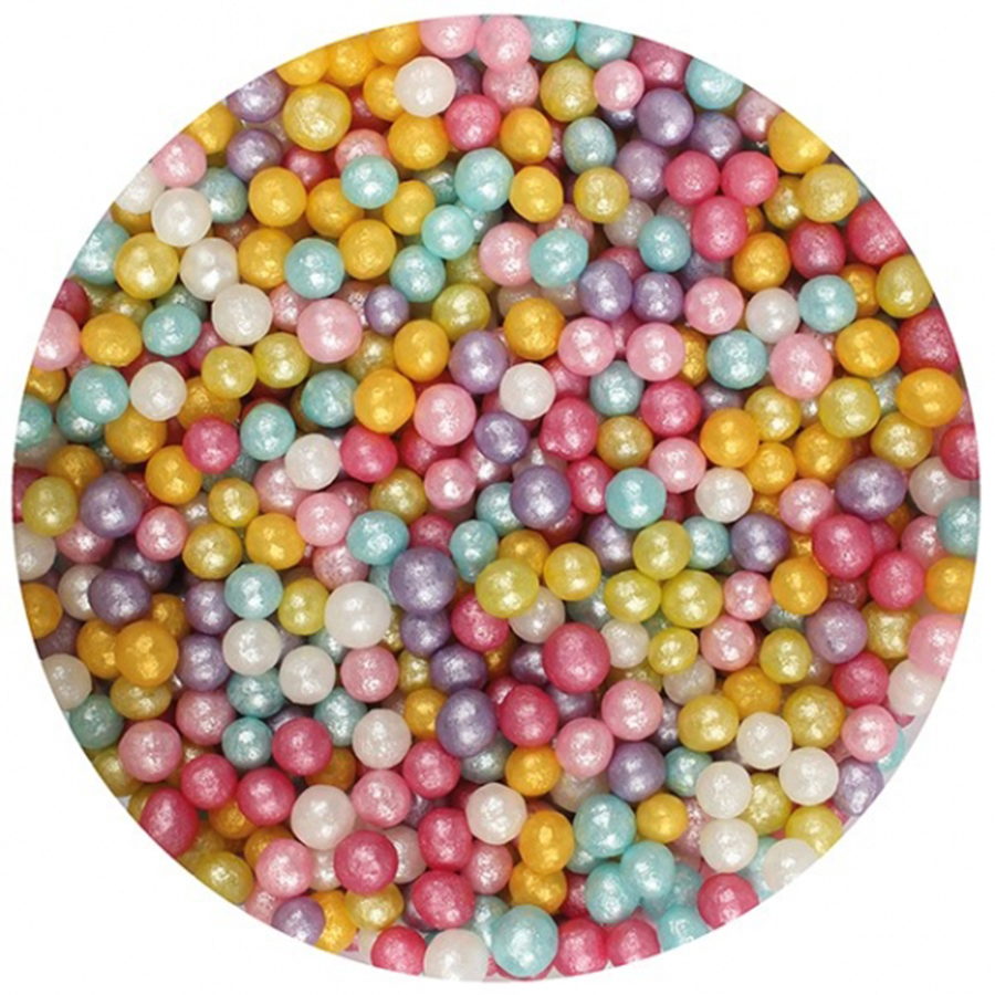 Purple Cupcakes 4mm Shimmer Pearls Multi 1kg