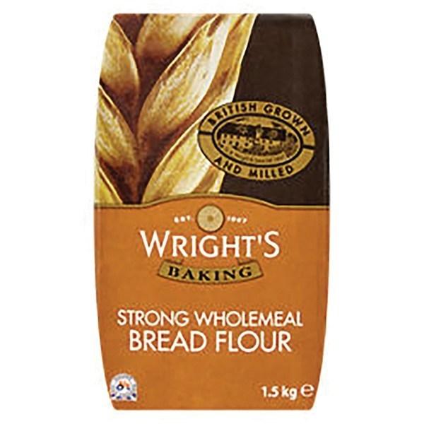 Wrights Wholemeal Bread Flour - 1.5kg - Single