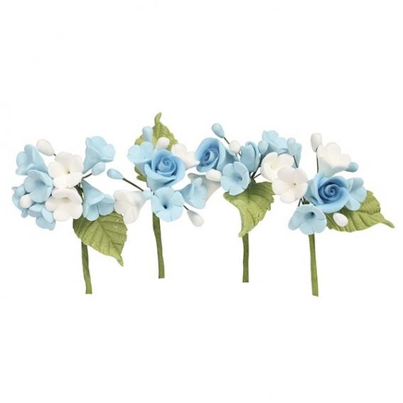 House of Cake Mini Rose Spray - Blue - single