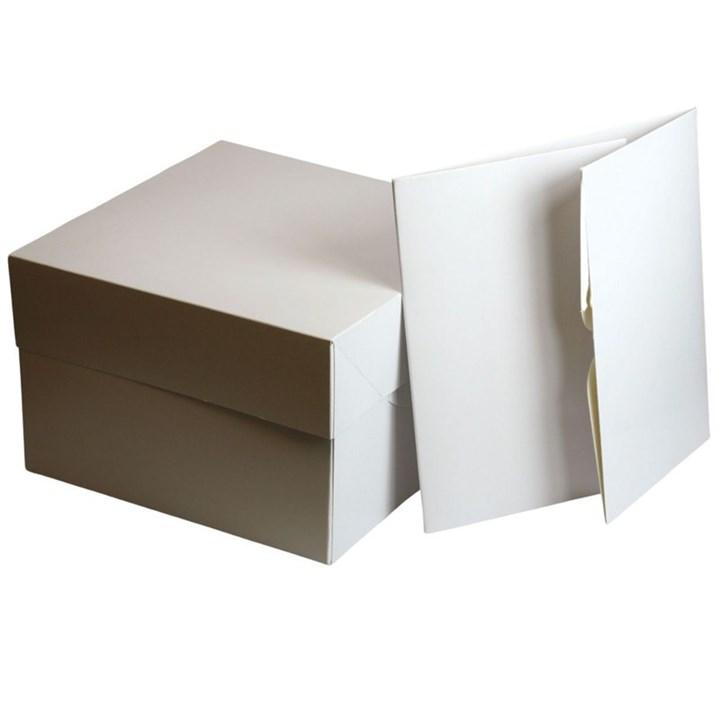 White Cake Boxes - 8'' (203 X 127mm Sq.) - Single